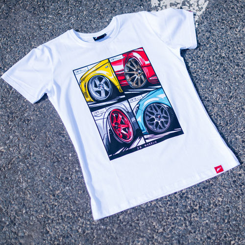 Japan Racing JR T-Shirt MIX White Herren