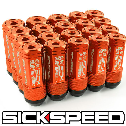 ORANGE SICKSPEED Hybrid Lug Nuts 60mm M12x1.25 Radmuttern 3-teilig short